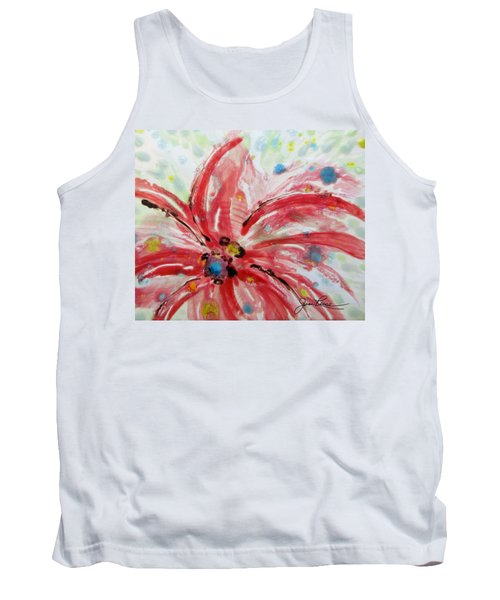 Chinese Red Flower Tank Top by Joan Reese