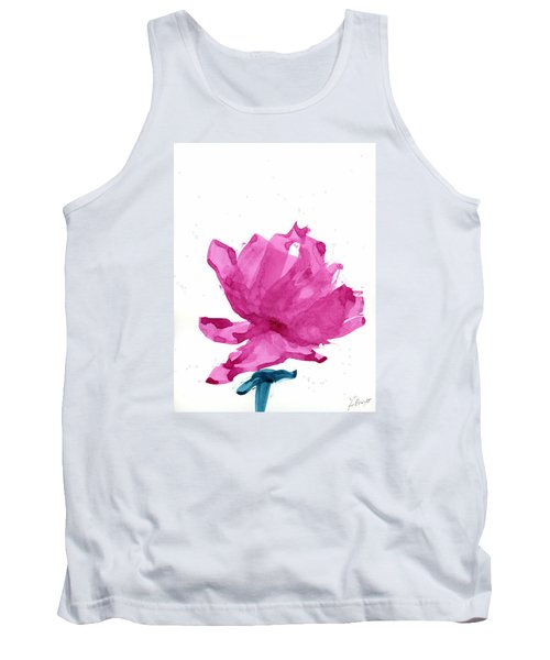 Tank Top featuring the painting Chinese Rose Hibiscus by Frank Bright