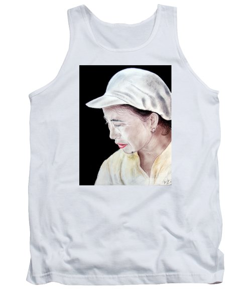Chinese Woman With A Facial Mole Tank Top by Jim Fitzpatrick