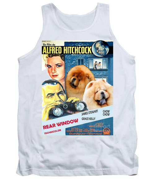 Chow Chow Art Canvas Print - Rear Window Movie Poster Tank Top