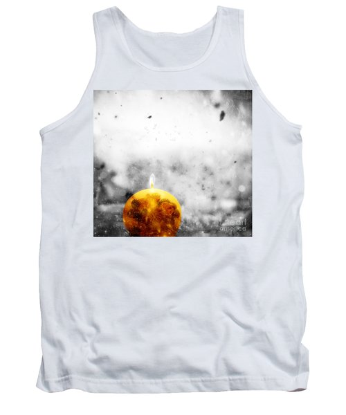 Christmas Ball Candle Lights On Winter Background Tank Top