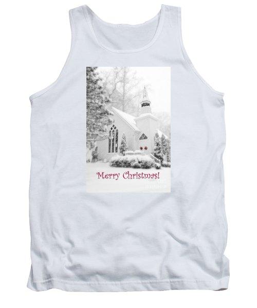 Historic Church Oella Maryland - Christmas Card Tank Top by Vizual Studio