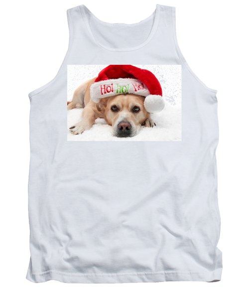 Tank Top featuring the photograph Christmas Dog by Aaron Berg