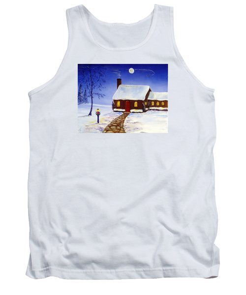 Tank Top featuring the painting Christmas Eve by Lee Piper