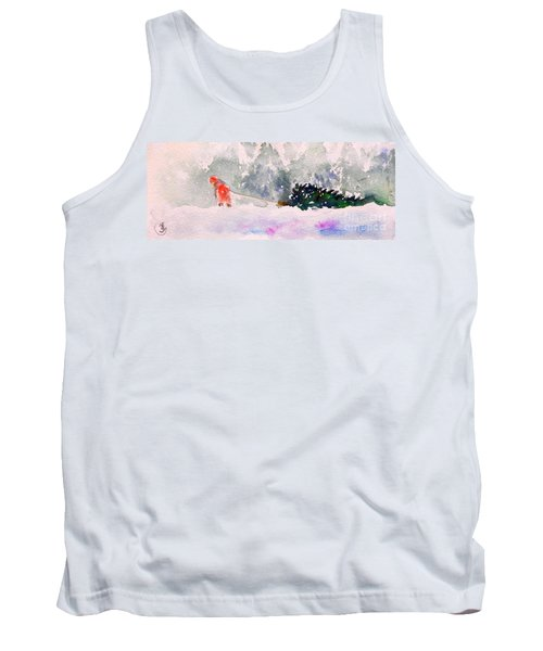 Christmas Is Coming Tank Top by Yoshiko Mishina