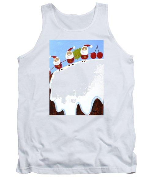 Christmas Pudding And Santas Tank Top