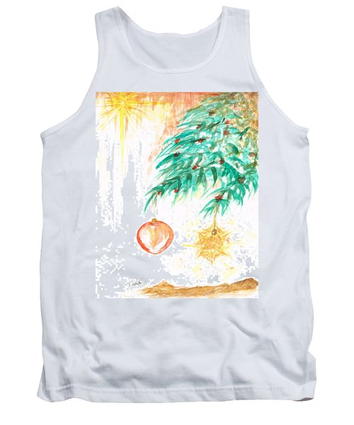 Tank Top featuring the painting Christmas Star by Teresa White