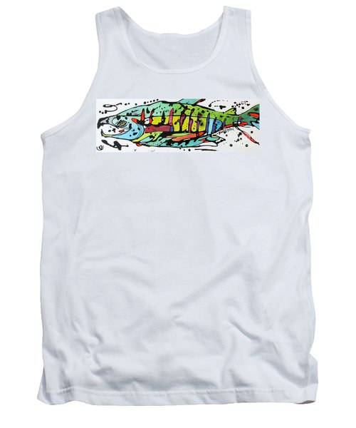 Tank Top featuring the painting Chum by Nicole Gaitan