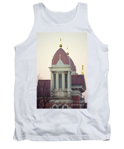 Church Of Gold Crosses Tank Top by Maria Urso