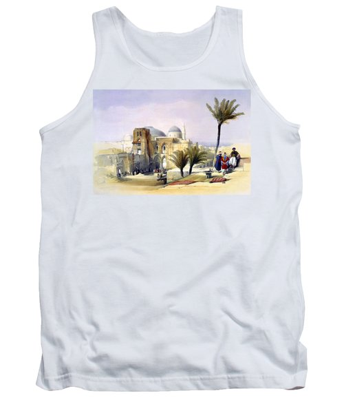 Church Of The Holy Sepulchre In Jerusalem Tank Top