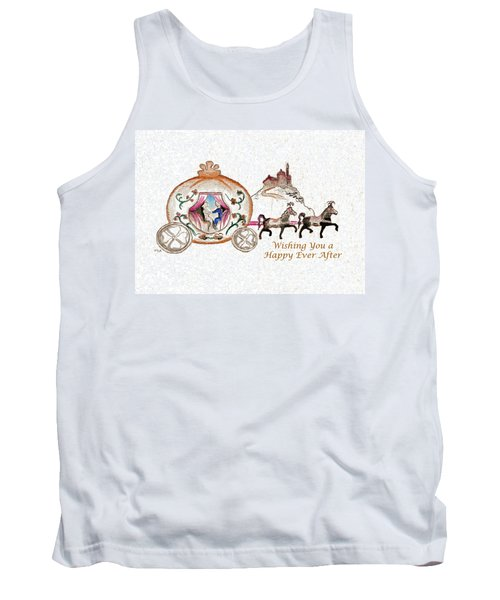 Cinderella Wedding Message Tank Top
