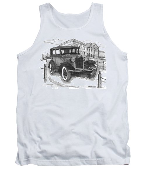 Classic Auto With Mills Mansion Tank Top