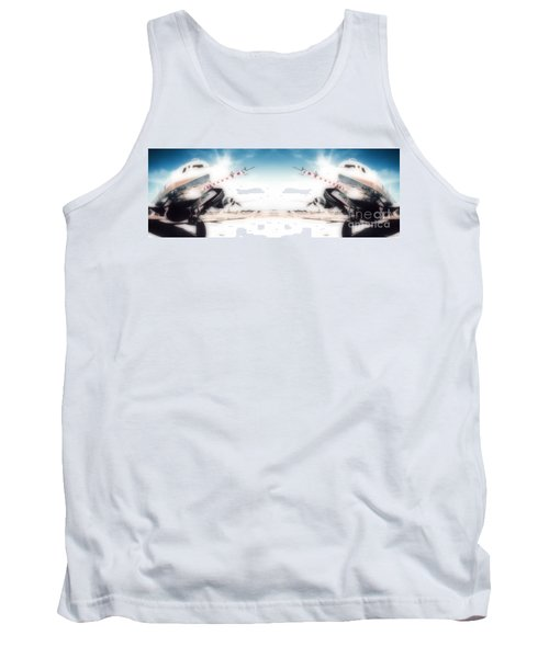 Tank Top featuring the photograph Propeller Aircraft by R Muirhead Art