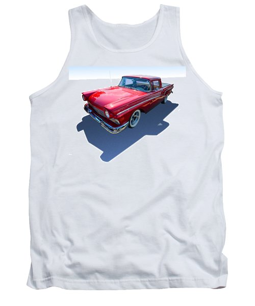 Tank Top featuring the photograph Classic Red Truck by Gianfranco Weiss