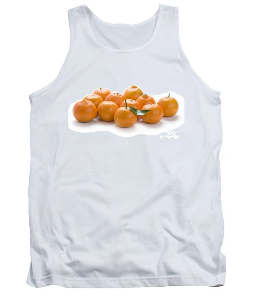Tank Top featuring the photograph Clementine Oranges On White by Lee Avison