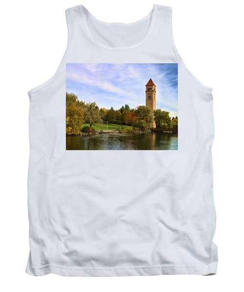 Clocktower And Autumn Colors Tank Top