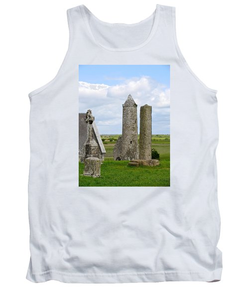 Tank Top featuring the photograph Clonmacnoise Towers by Suzanne Oesterling