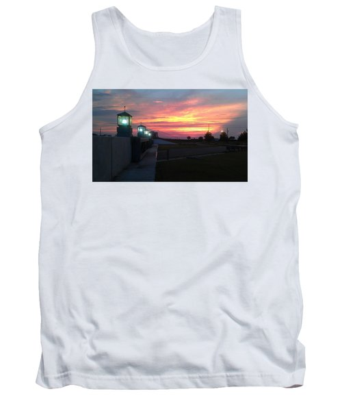 Closed Flood Gates Sunset Tank Top