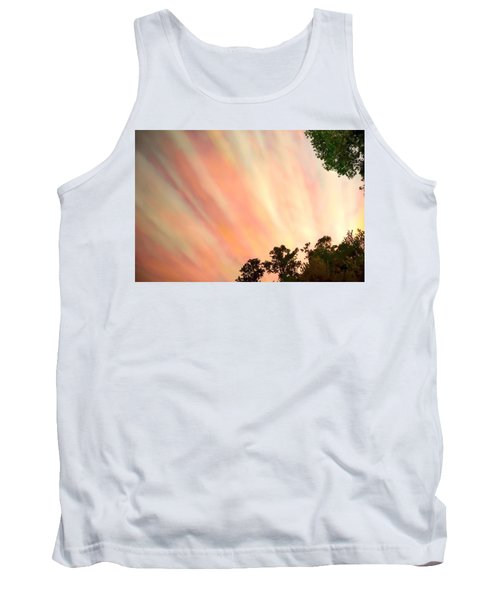 Tank Top featuring the photograph Cloud Streams by Charlotte Schafer