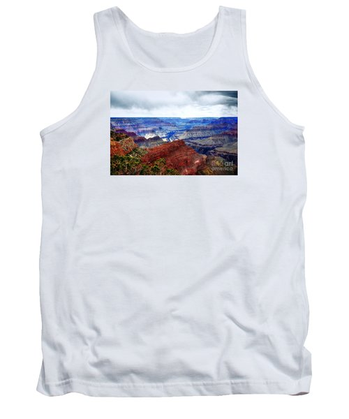 Tank Top featuring the photograph Cloudy Day At The Canyon by Paul Mashburn