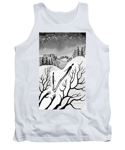 Tank Top featuring the digital art Clutching Shadows by Carol Jacobs