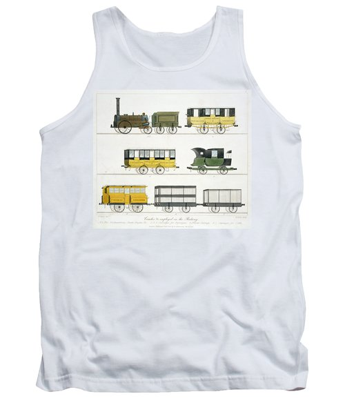 Coaches Employed On The Railway, Plate Tank Top