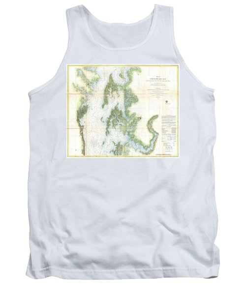 Coast Survey Chart Or Map Of The Chesapeake Bay Tank Top