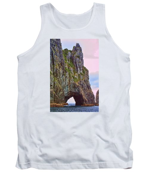 Coastal Rock Open Arch Tank Top by Linda Phelps