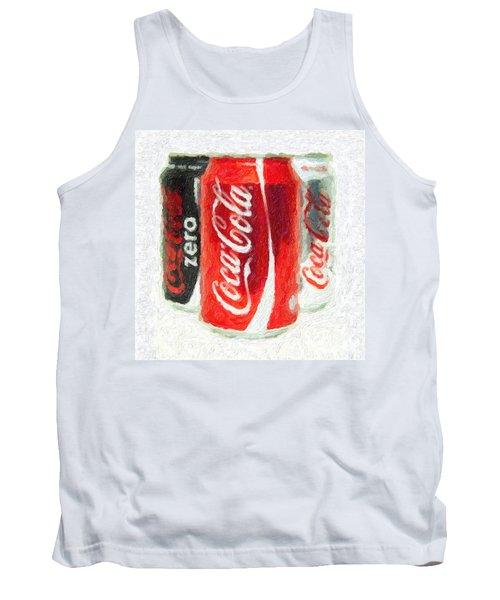 Coca Cola Art Impasto Tank Top