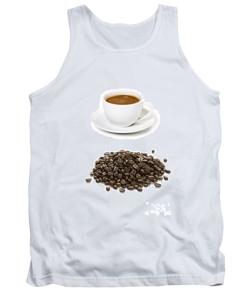 Tank Top featuring the photograph Coffee Cups And Coffee Beans by Lee Avison