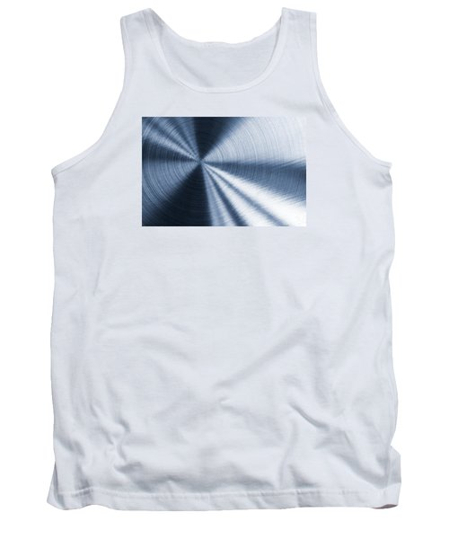 Cold Blue Metallic Texture Tank Top