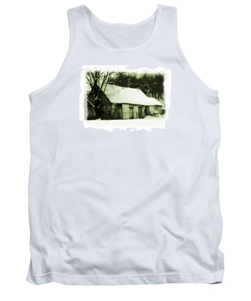 Tank Top featuring the photograph Countryside Winter Scene by Nina Ficur Feenan