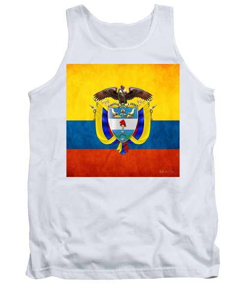 Colombia Coat Of Arms And Flag  Tank Top
