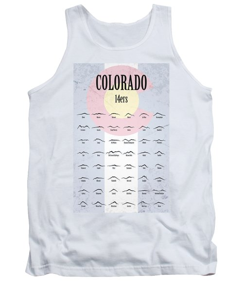 Colorado 14ers Poster Tank Top