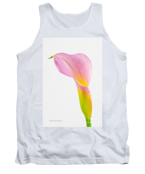 Colorful Calla Lily Flower Tank Top