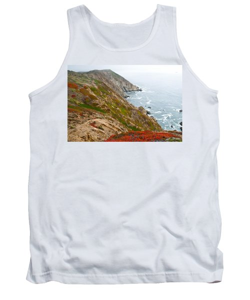 Tank Top featuring the photograph Colorful Cliffs At Point Reyes by Jeff Goulden