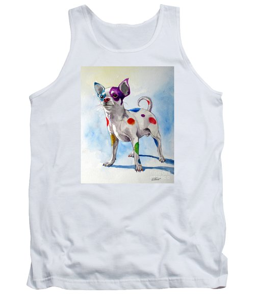 Colorful Dalmatian Chihuahua Tank Top