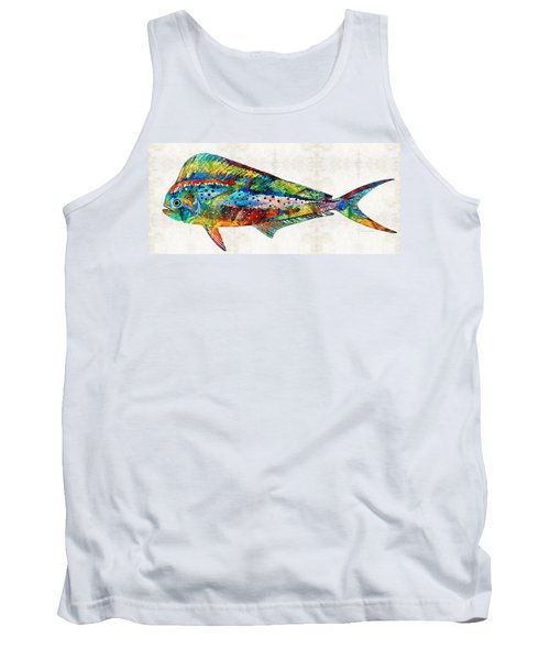 Colorful Dolphin Fish By Sharon Cummings Tank Top