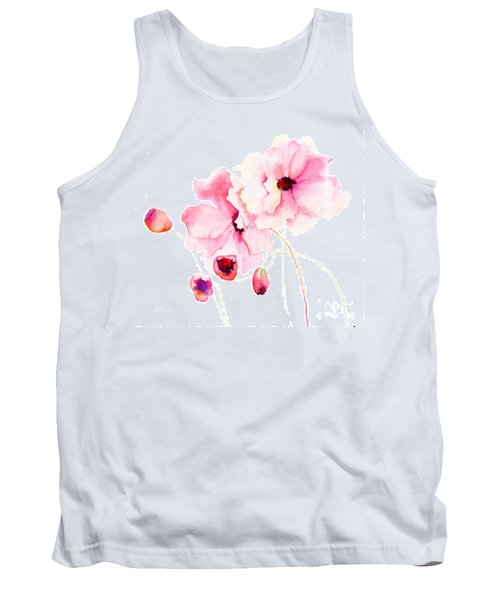 Colorful Pink Flowers Tank Top