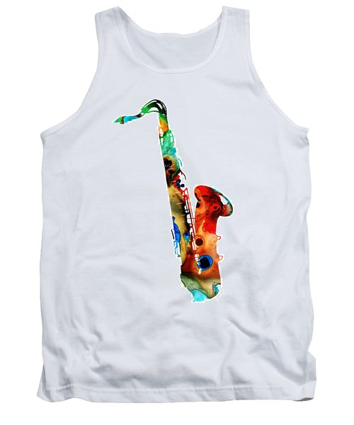 Colorful Saxophone By Sharon Cummings Tank Top
