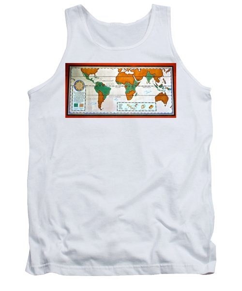 Colorful World Map Of Coffee Tank Top