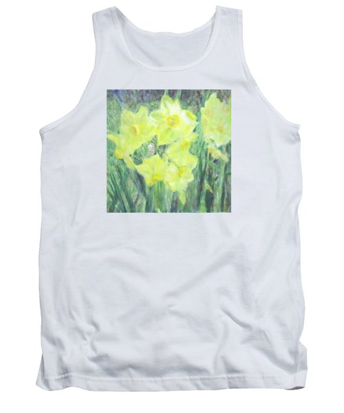 Colorful  Yellow Flowers Tank Top