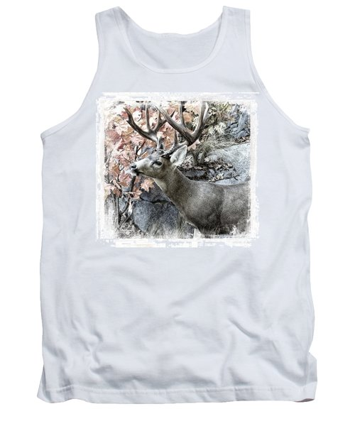 Tank Top featuring the photograph Columbia Blacktail Deer by Aaron Berg