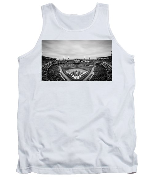Comiskey Park Night Game - Black And White Tank Top