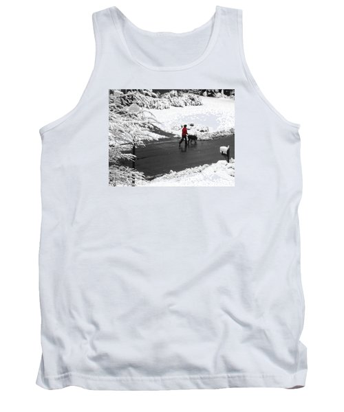 Companions Walking On Christmas Morning Tank Top by Sandi OReilly