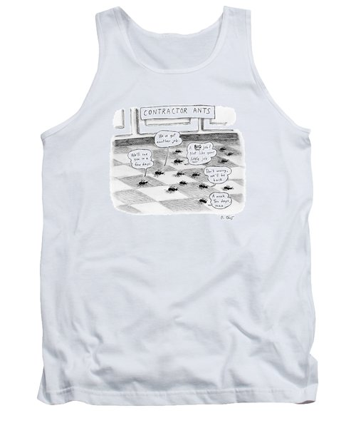 Contractor Ants Are Leaving A House. Ants' Speech Tank Top