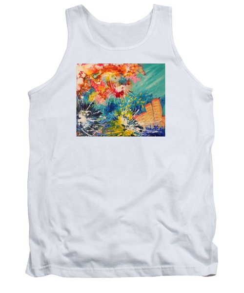 Tank Top featuring the painting Coral Madness by Lyn Olsen