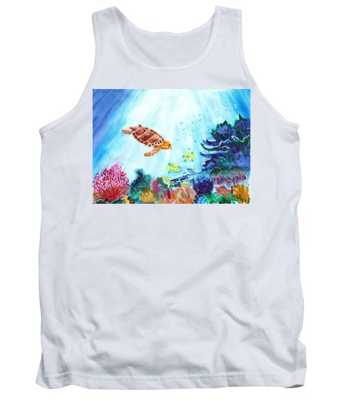 Tank Top featuring the painting Coral Reef by Donna Walsh