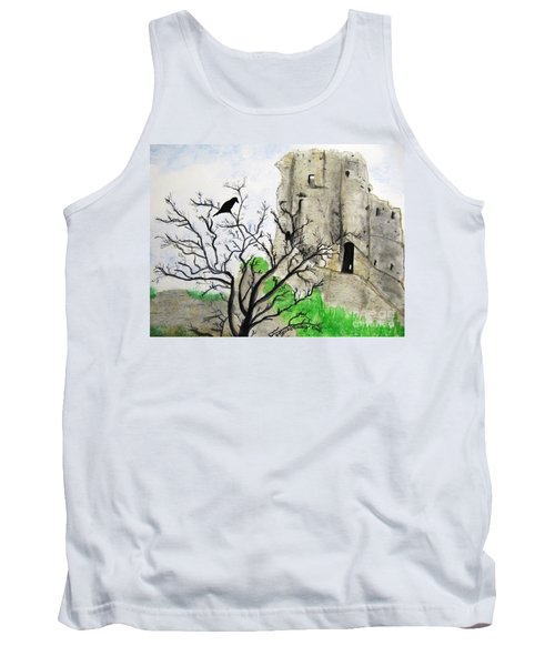 Corfe Castle And Crow Tank Top
