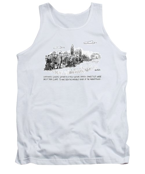 Corporate Leaders Gather In A Field Tank Top